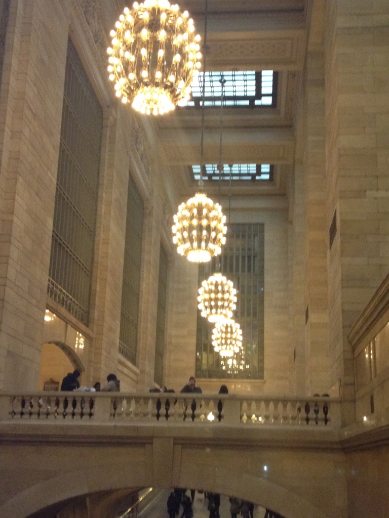 Grand Central Station- I loved these beautiful orb lights