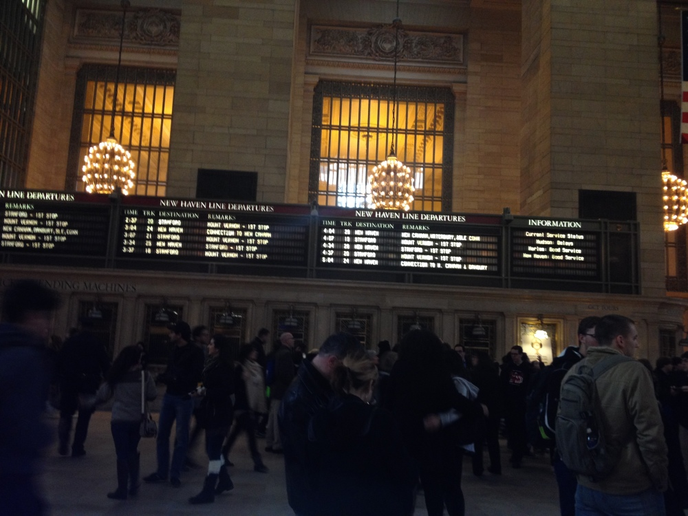 And another of Grand Central. Just being in train stations looking at the schedule boards makes me excited. Train stations and airports are some of my favorite places.